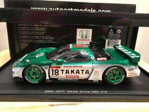 VENDU SOLD 1/18 Diecast Autoart Honda NSX 2004 JGTC TAKATA