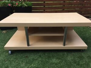 TV stand or entertainment unit on wheels - Ikea Timra