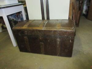 19th century spanish steamer trunk
