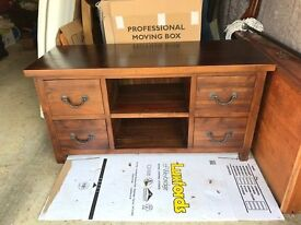 tv cabinet in teak perfect condition