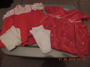 Girl's Size 3-6months Dresses & Tights