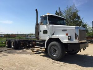 1988 Autocar WHGM Tri-Axle Cab and Chassis