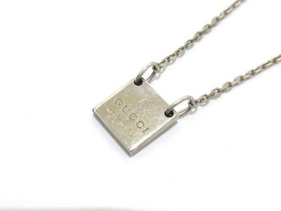 Auth GUCCI Silver Necklace