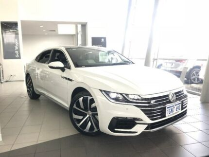 2018 Volkswagen Arteon 3H MY18 206TSI Sedan DSG 4MOTION R-Line White 7 Speed Myaree Melville Area Preview