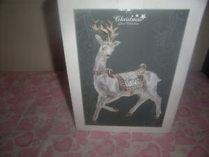 porcelain platter with figure,christmas deco deer collection. Kingston Kingston Area image 5