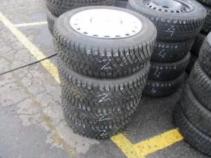 205/55 R16 USED WINTER TIRES ON VOLVO RIMS GENERAL USED SNOW TIRES (SET OF 4) - APPROX. 85% TREAD