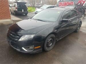 2012 FORD FUSION -  LOADED! LEATHER, POWER ROOF - CERTIFIED