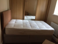QUEEN SIZE 2 DRAWER ORTHOPEDIC BED SET-COMPLETE WITH MATTRESS AND HEADBOARD-FANTASTIC CONDITION