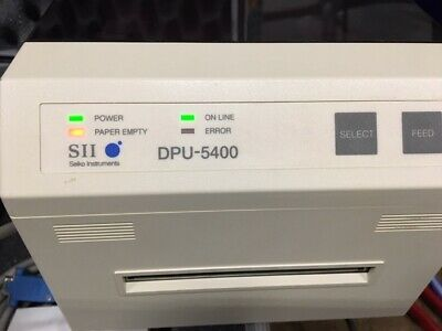 Seiko Instruments Dpu-5442 Thermal Printer Wcables Pelican Case And Paper