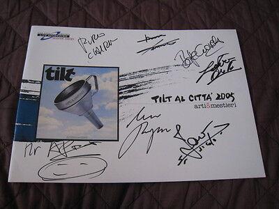 Arti & Mestieri 2005 Signed Japan Tour Book Concert Program Tilt Italian Rock