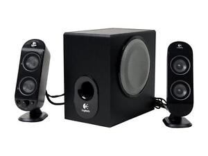 Logitech X-230 Speakers  2.1-channel speaker system with ported