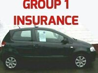 ONLY GROUP 1 INSURANCE 2009 VW FOX 1.2 55 LOW MILES GREAT FIRST CAR