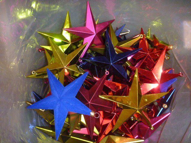 100 Shatterproof Star Christmas Decorations