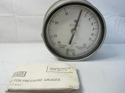 8976 Weksler Dual Vacuumpressure Gauge 36 Hg15 Psi Free Shipping Conti Usa