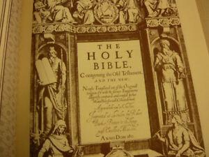1611 King James Bible Sampler, Full-sized Facsimile. Perfect-bound.