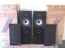 125W Mission Stereo Power Speakers with Original Boxes - Heathrow