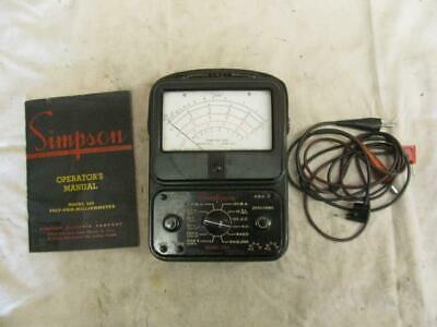 Nice Vintage Simpson Model 260 Analog Multi-meter Operators Manual Volt Ohm