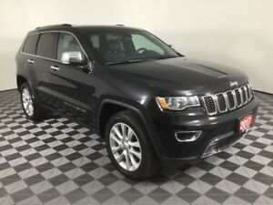 2017 Jeep Grand Cherokee LIMITED w/NAVI, HEATED LEATHER AND WHEE