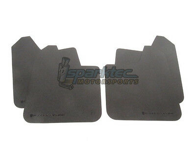 Rally Armor Universal Basic Mud Flaps Black with Black Logo CarTruckSUV ALL