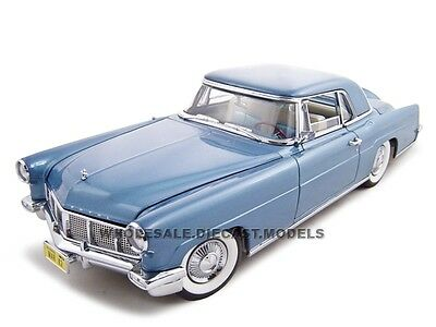 - 1956 LINCOLN CONTINENTAL MARK 2 BLUE 1:18 DIECAST MODEL BY ROAD SIGNATURE 20078