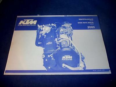 KTM Spare Parts Manual Engine 2000 SXC USA