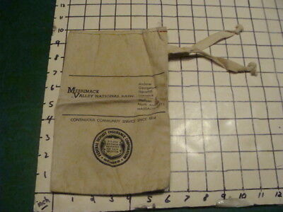 Vintage Orig Bank Bag    Merrimac Valley National Bank    Mass