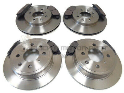 HONDA JAZZ  2008-2016 PAIR OF FRONT 262mm VENTED BRAKE DISCS AND PADS