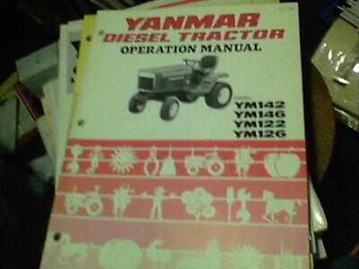 Yanmar Diesel Tractor Operation Manual Model Ym142 Ym146 Ym122 Ym126