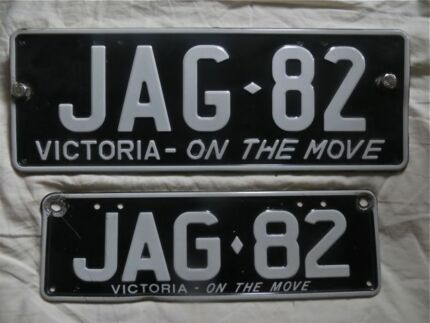 JAG 82 Number Plates [Victorian Plates] Carlton Melbourne City Preview
