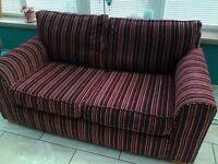 NEXT Red Stripe Sofa
