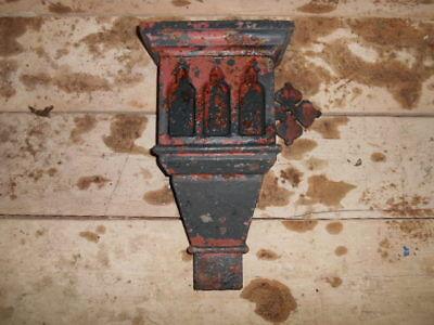 Antique Victorian cast iron decorative rainwater hopper 3 1/2 x 2 outlet   H8