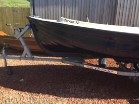 Torran 12 Boat, excellent condition with Yamaha 4hp Four stroke engine and solid extreme trailer