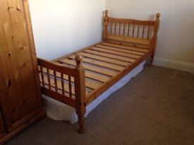Pine Bunk Bed with mattresses. Good condition, Sturdy