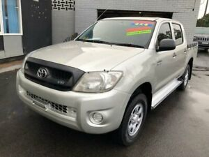 2009 Toyota Hilux GGN25R 09 Upgrade SR (4x4) Silver 5 Speed Manual Dual Cab Pick-up Clyde Parramatta Area Preview