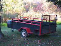 All steel low gravity working trailer