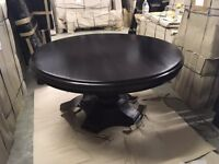 REPRODUCTION REGENCY STYLE ROUND DINING TABLE-MAHOGANY WOOD-NEVER USED