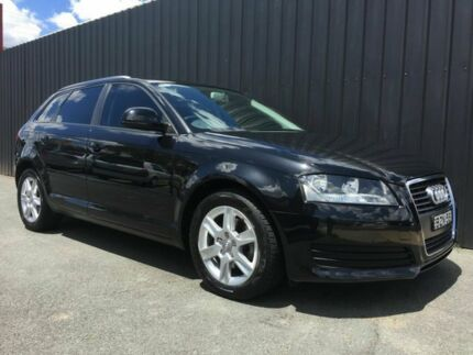 2010 Audi A3 8P MY09 Sportback 1.4 TFSI Attraction Black 7 Speed Auto Direct Shift Hatchback Phillip Woden Valley Preview