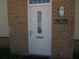 Fibercolour natural grained external door