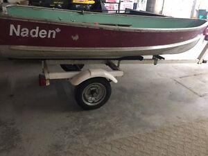12' Naden Boat, Mercury 9.9hp Motor w/trailer FOR SALE