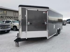 "RC 8.5' x 23' x 84"" High Combo Snowmobile Trailer - 7000k"
