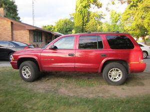 2001 Dodge Durango SLT $2100