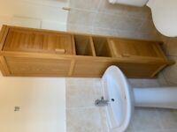 Bathroom cupboards solid American oak
