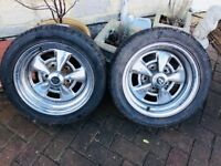 2 brand new tyres on rims size 225/40R 14