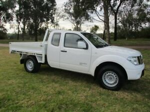 2014 Nissan Navara D40 S8 RX King Cab White 6 Speed Manual Cab Chassis