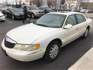 2000 LINCOLN CONTINENTAL, LEATHER, SUNROOF, ONLY 76,000 KM!!!!!!