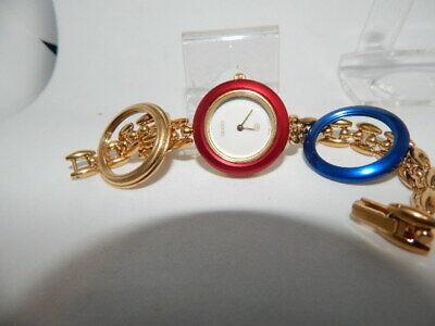 Retro Women's Gucci Watch #1100-L - 3 Different Color Bezels