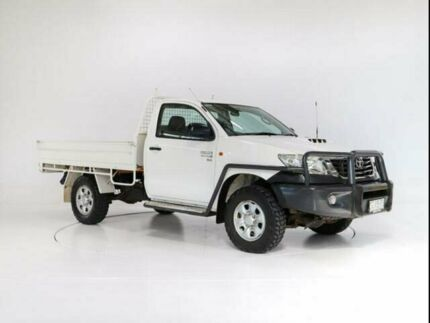 2012 Toyota Hilux KUN26R MY12 SR (4x4) Glacier White 5 Speed Manual Cab Chassis Cooee Burnie Area Preview