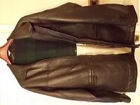 Black real leather jacket (Marrs) - size exlage