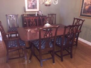 VINTAGE 1980 PENNSYLVANIA HOUSE SOLID BROWN CHERRY DINING SET