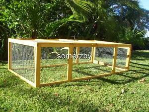 Rabbit Hutch Somerzby Villa RUN Guinea Pig cage Large Extension chicken house